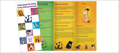 designing brochures for pet related services brochure printing online